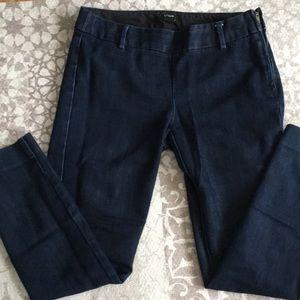 City fit dark zipper pants